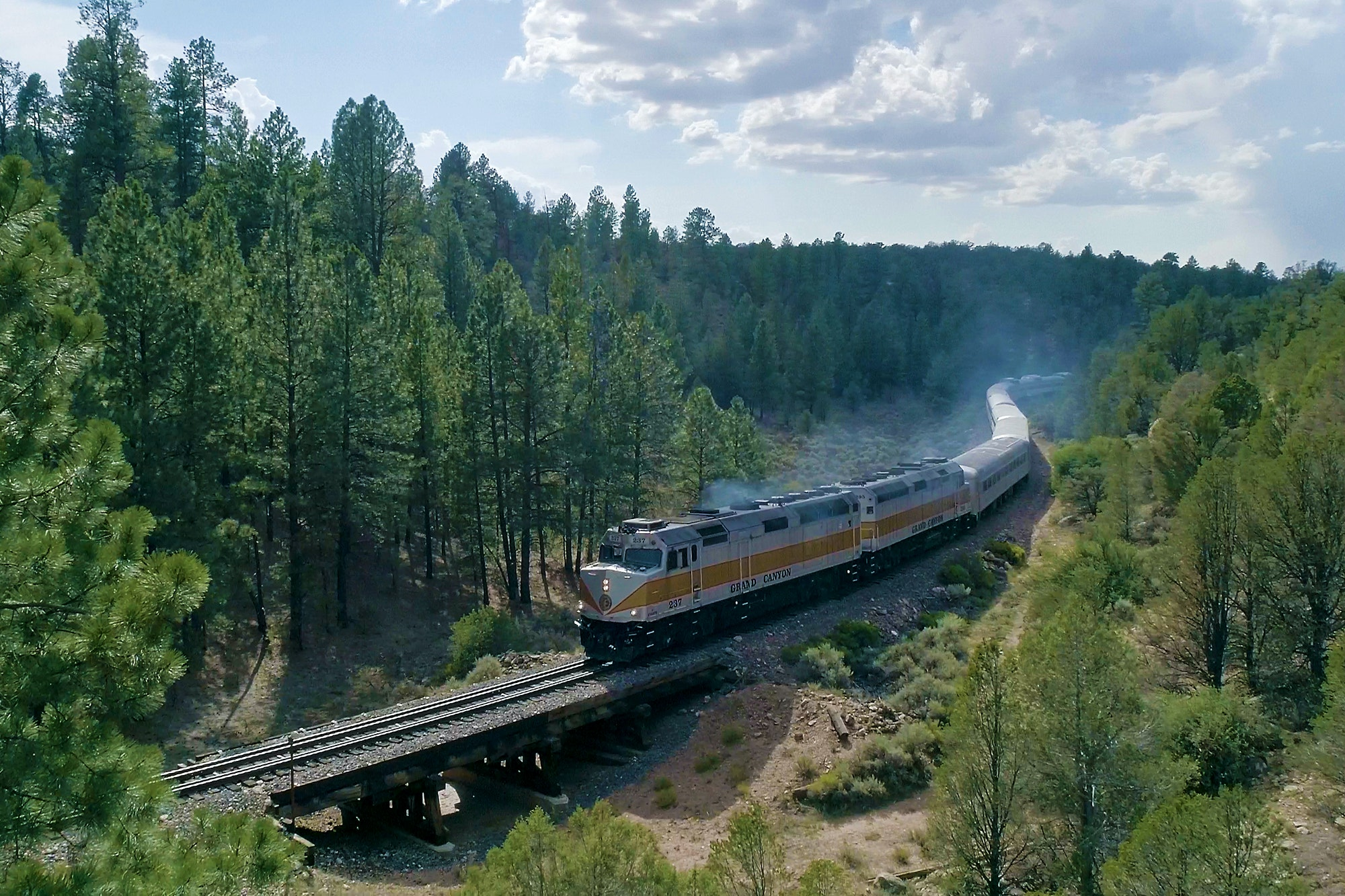 The Grand Canyon Railway has been operating since 1901.