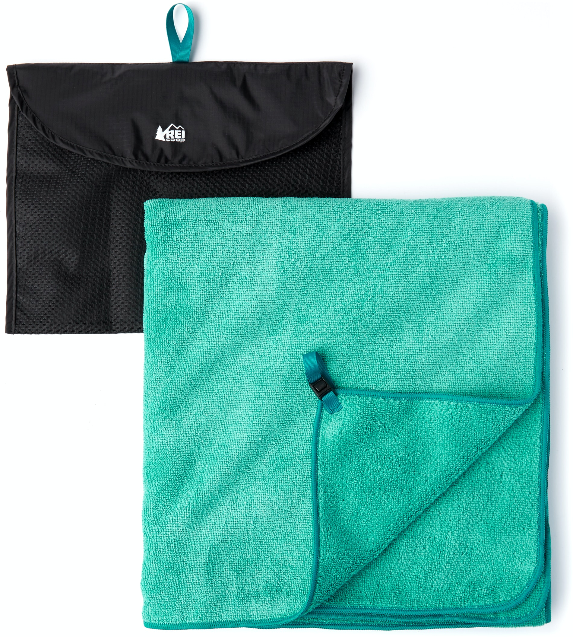 This quick-drying microfiber towel, with carying pouch, from REI is tailor-made for beach runs.