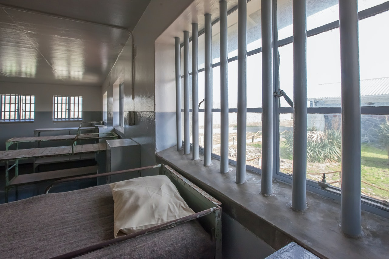 A communal cell at Robben Island