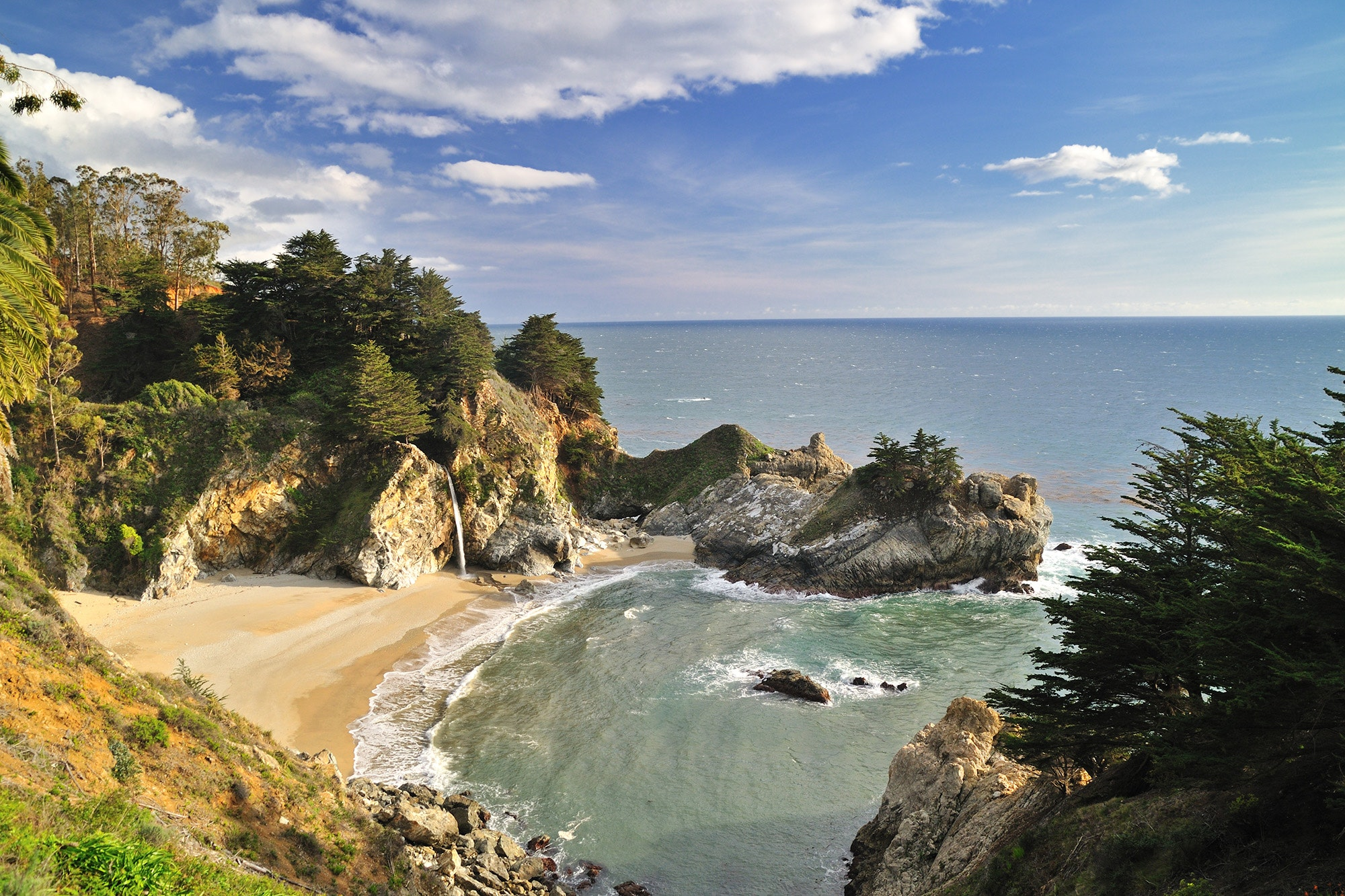There are a number of camping options in the beloved Big Sur area, including two campsites above the iconic McWay Falls.