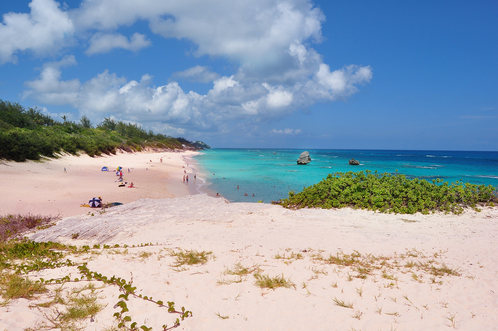 Horseshoe Bay Beach, with its pink-tinged sands, is Bermuda's most iconic beach.