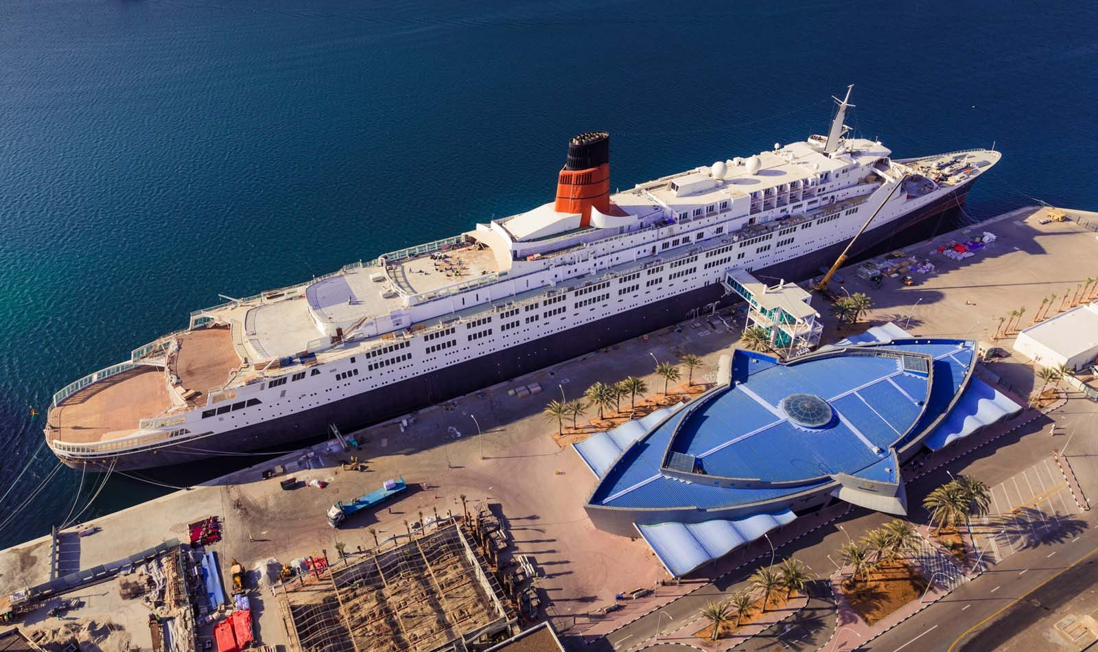 In its heyday, the QE2 accommodated some 1,900 passengers, served by 1,000 crew members.