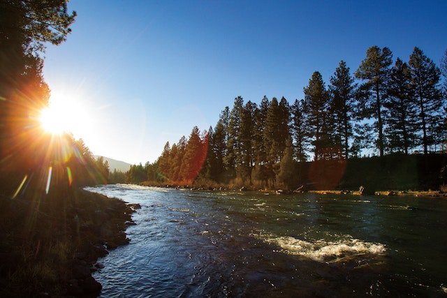 The Blackfoot River, which flows through the Resort at Paws Up in Montana.