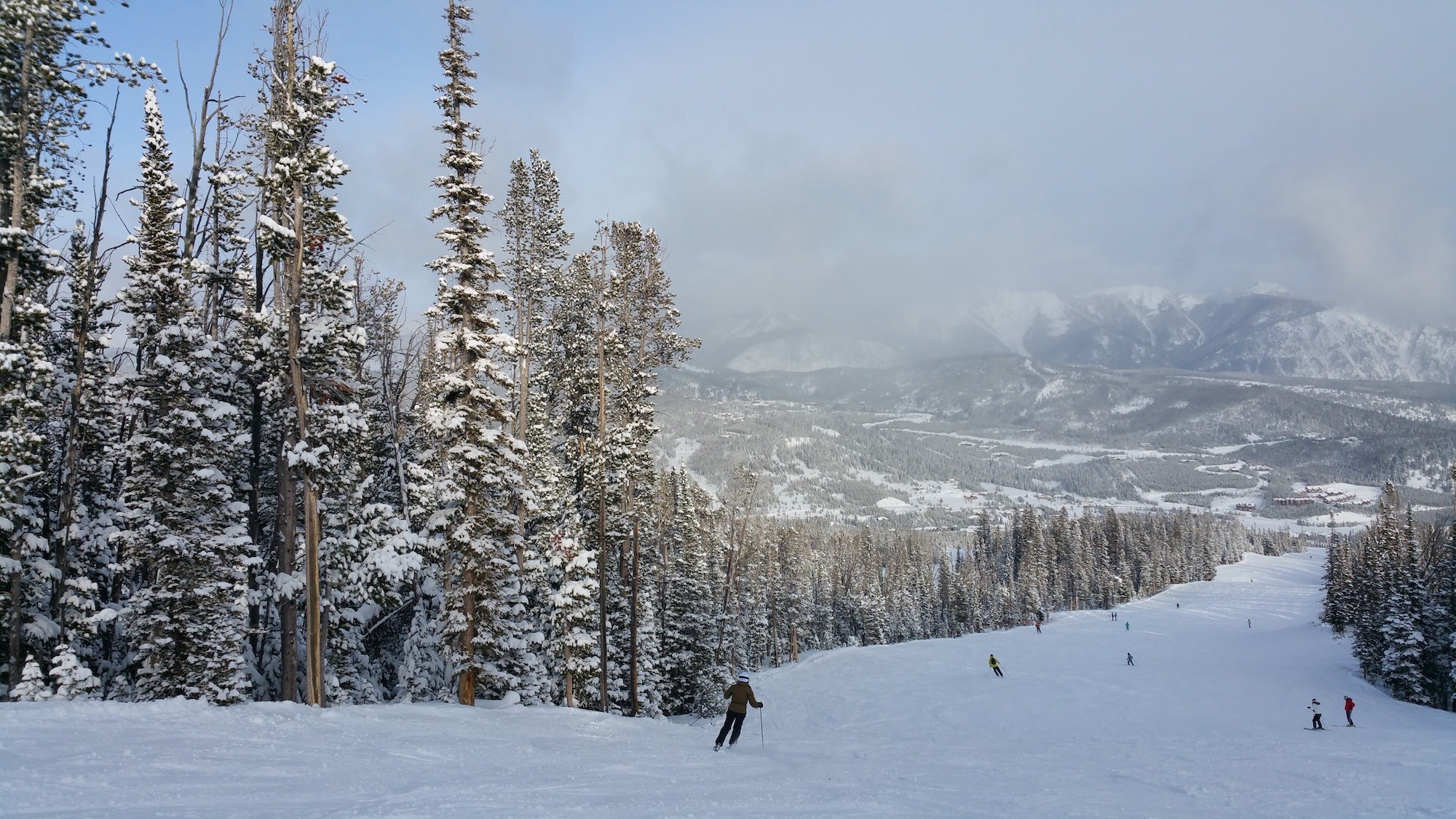 Big Sky Resort in Montana sits just northwest of Yellowstone National Park.
