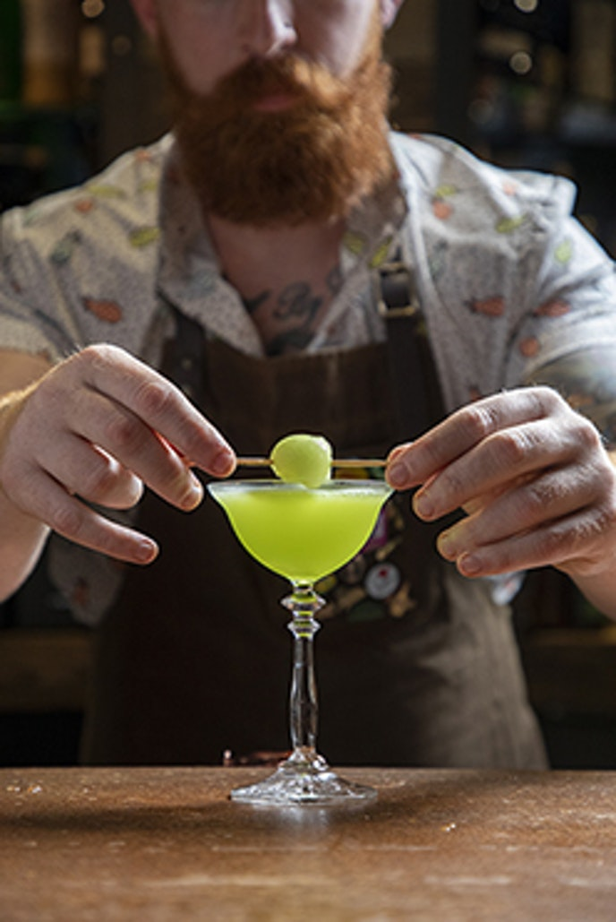 Behold, the Melon Ball at Handcraft Kitchen & Cocktails.