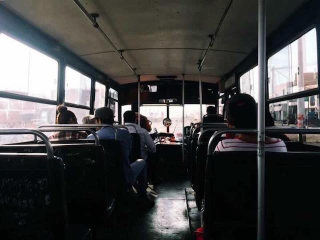 A normal day's view from a bus in Peru.