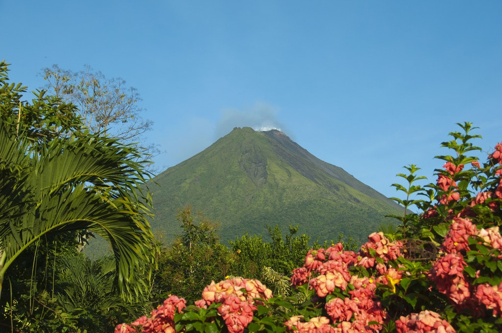 After a hike around Arenal Volcano, families can relax in the area's hot springs.