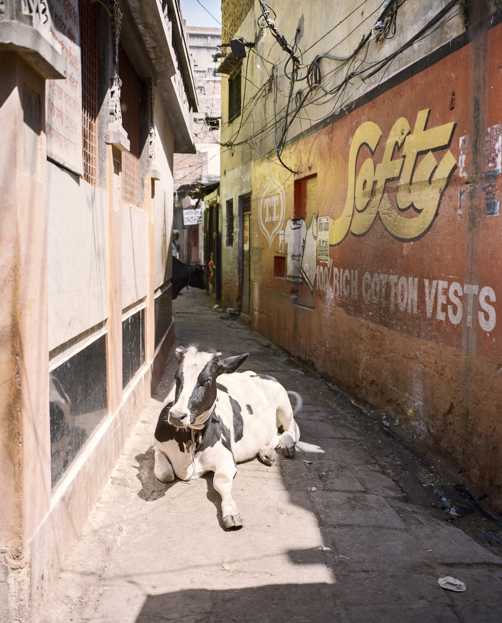 The pace of life in Varanasi slows as you wander deep into the alleys of the old city.