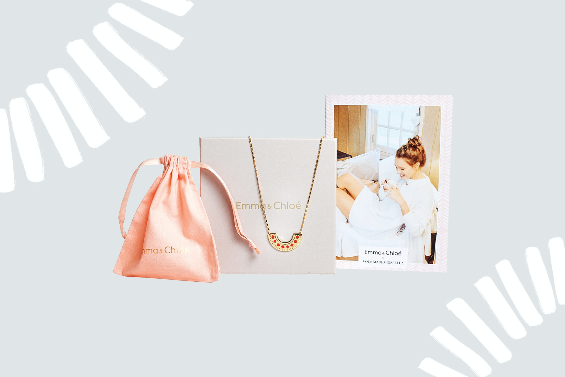 Can't go wrong with monthly French jewelry from Emma & Chloe.