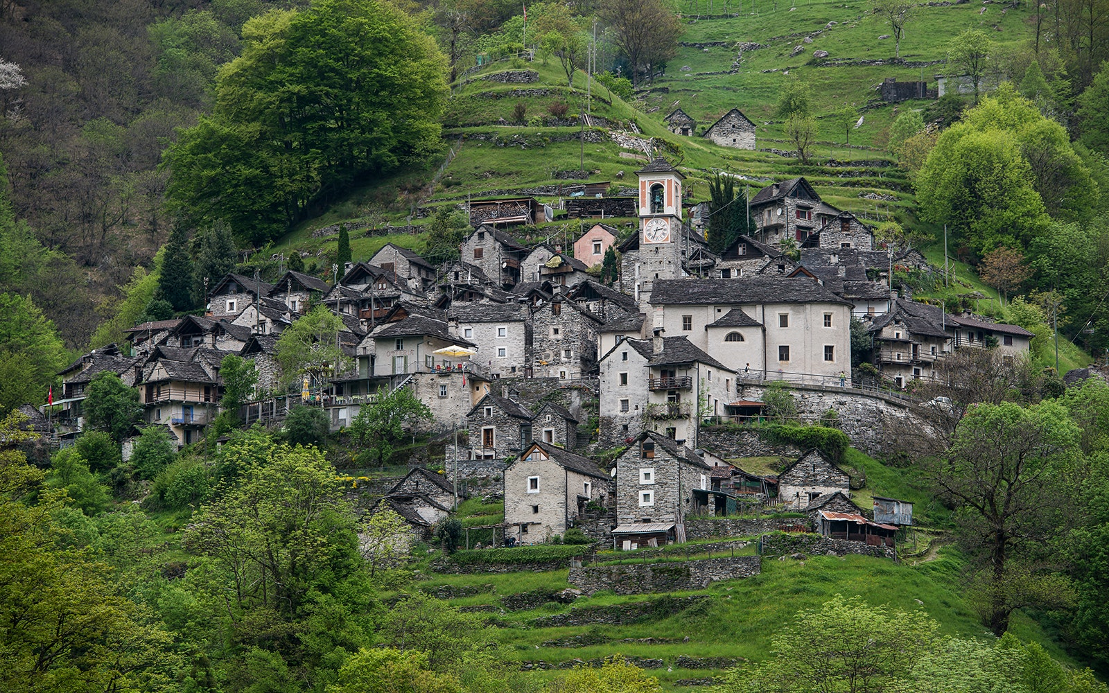 The town of Corippo in Switzerland will become the country's first albergo diffuso.