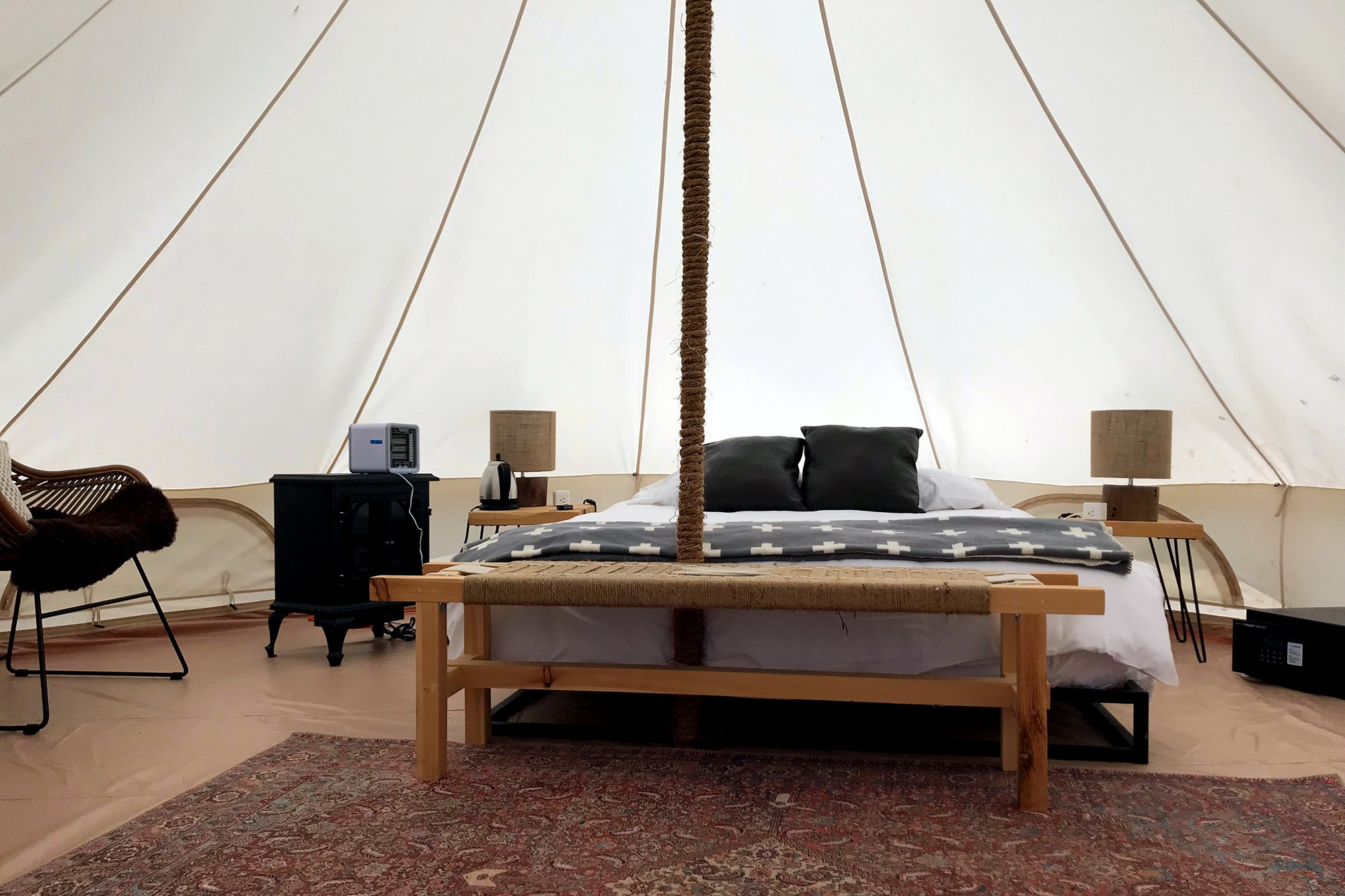 Journey Tents start at $150 per night.