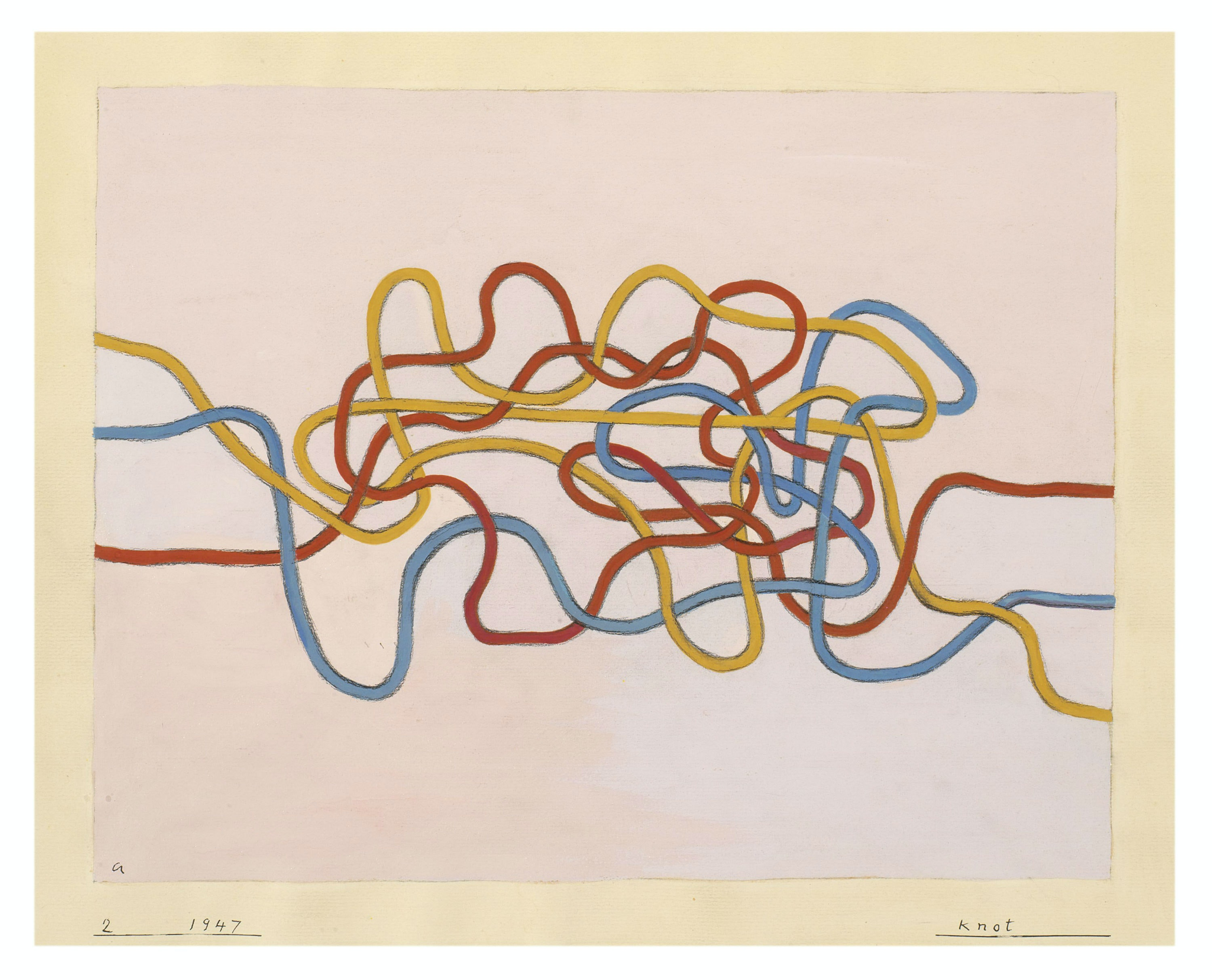 """Anni Albers, """"Knot"""" (1947)"""