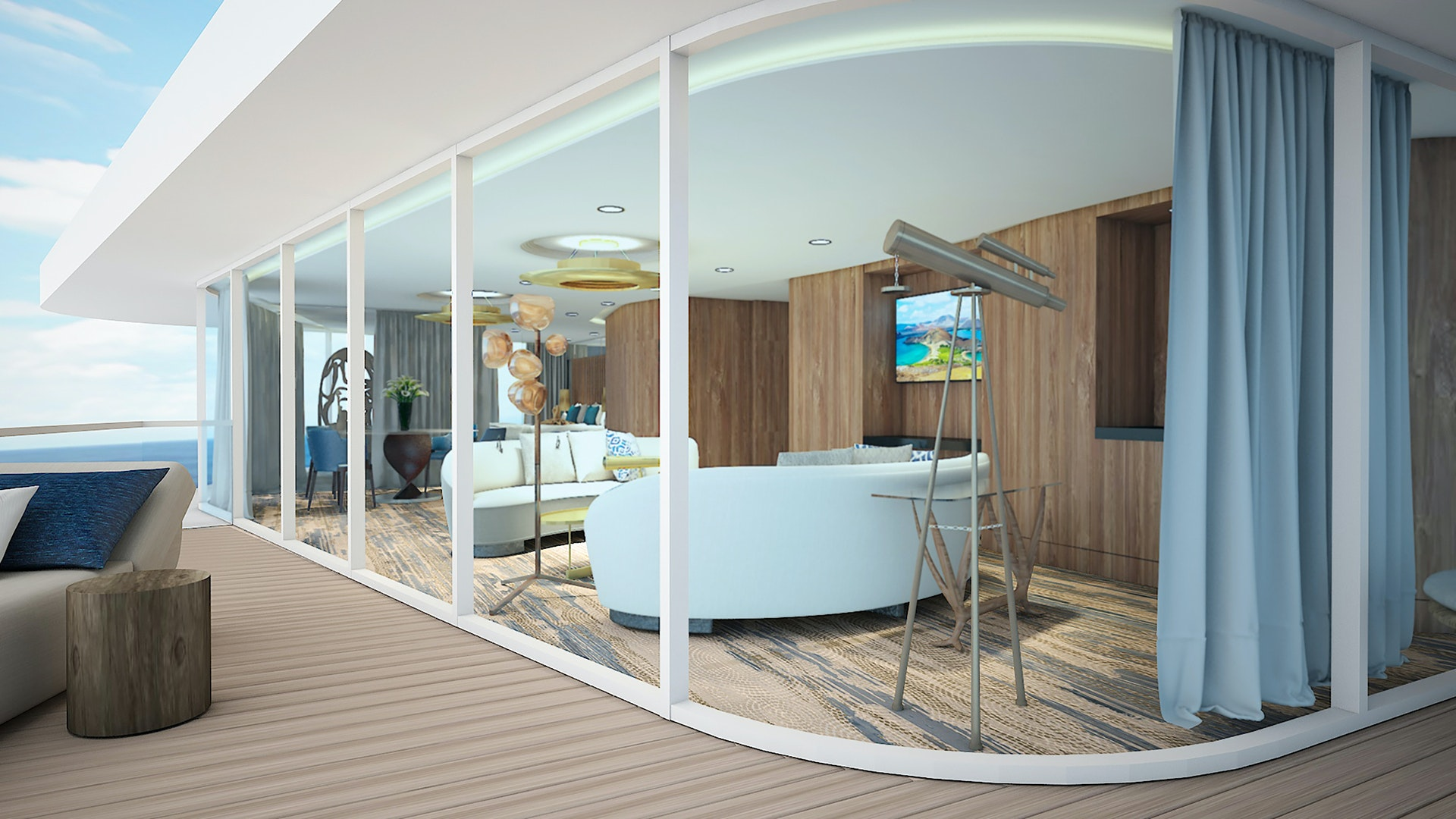 Celebrity Flora's 1,288-square-foot Penthouse Suite will be the largest in the Galápagos.