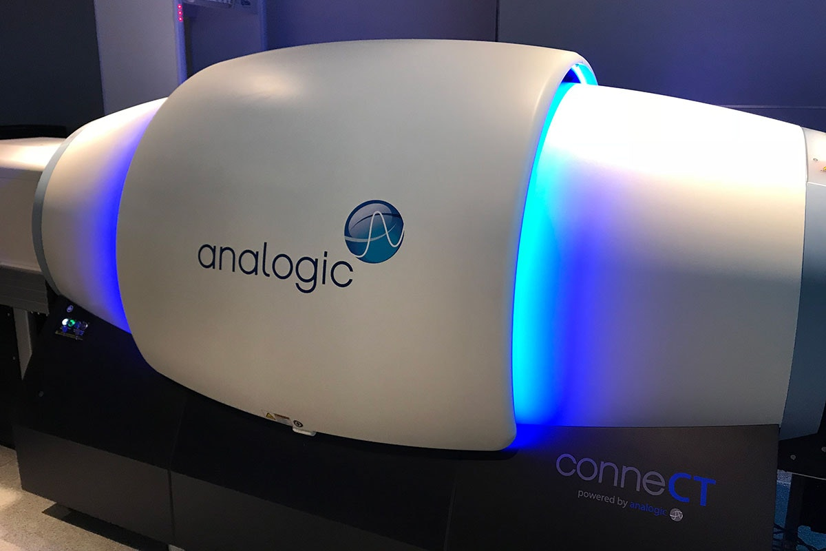 A new computed tomography scanner at JFK Airport