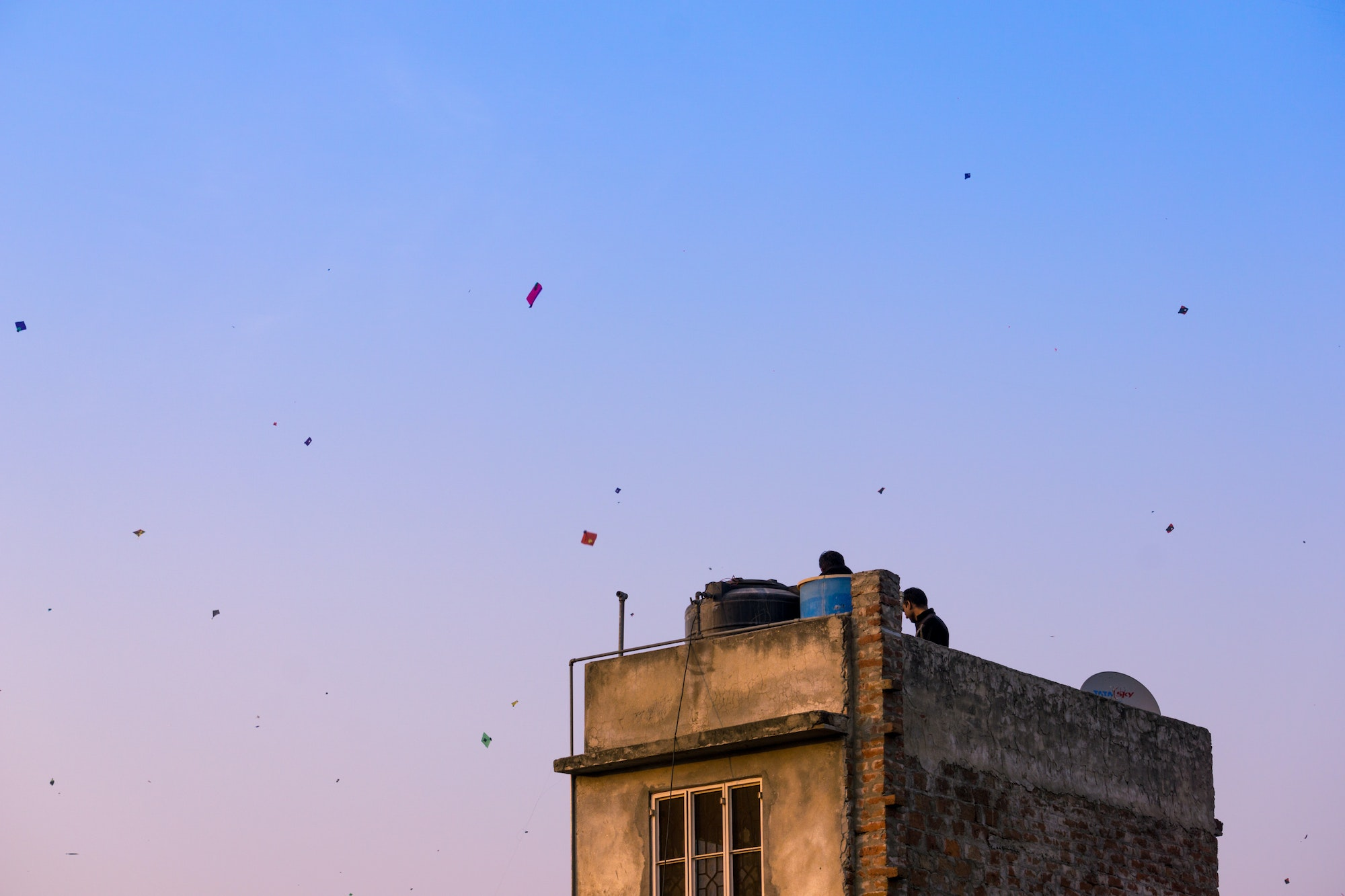 Across India, kite flying is a popular way to celebrate Independence Day.