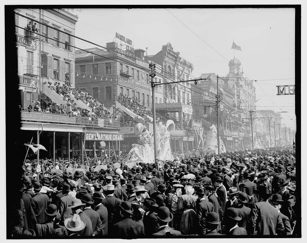 Mardi Gras on Canal Street in the 1920s