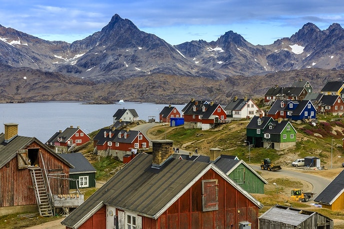 The town of Tasiilaq is the largest on Greenland's eastern coast.