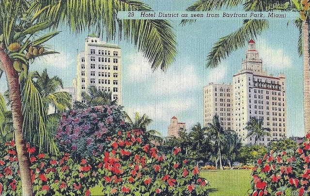 Miami, c. 1940—you can almost smell the sea breeze.