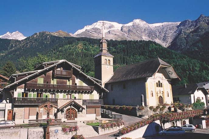 Spend the night in comfortable, cozy accommodations in fairy-tale hamlets high in the Alps on MT Sobek's Tour du Mont Blanc.