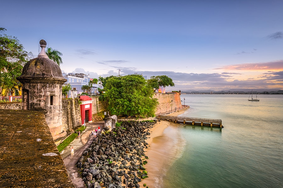San Juan offers both small and larg sandy stretches to soak up the summer sun.