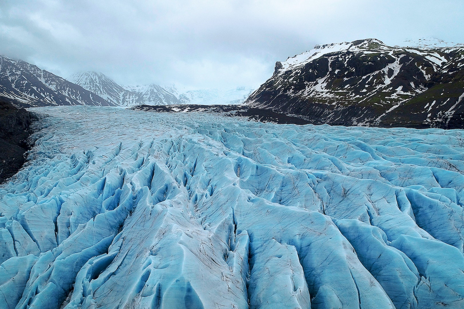 Vatnajökull is the most voluminous ice cap in Iceland and one of the largest glaciers in Europe.