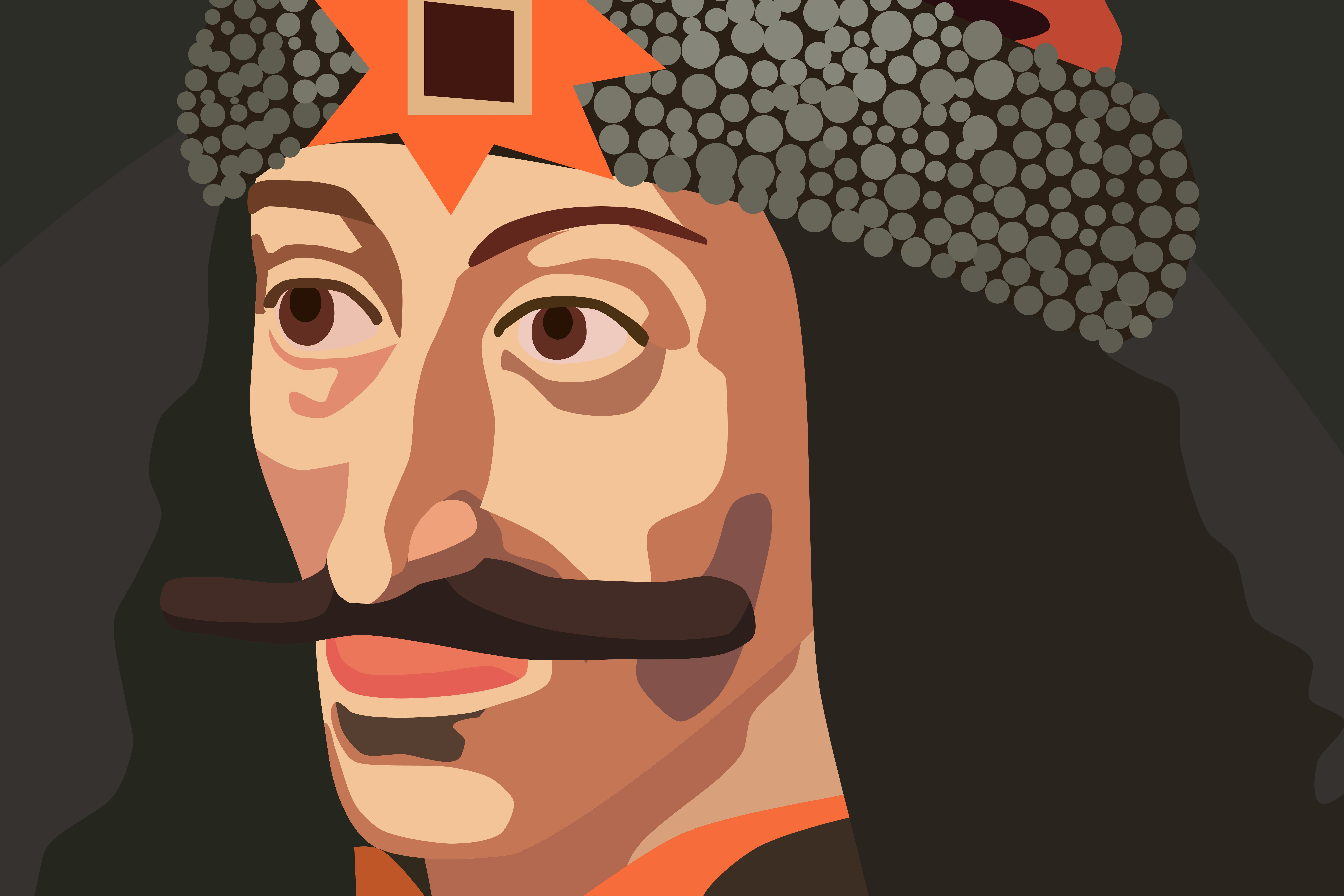 A depiction of Vlad Tepes, who inspired Bram Stoker's Dracula