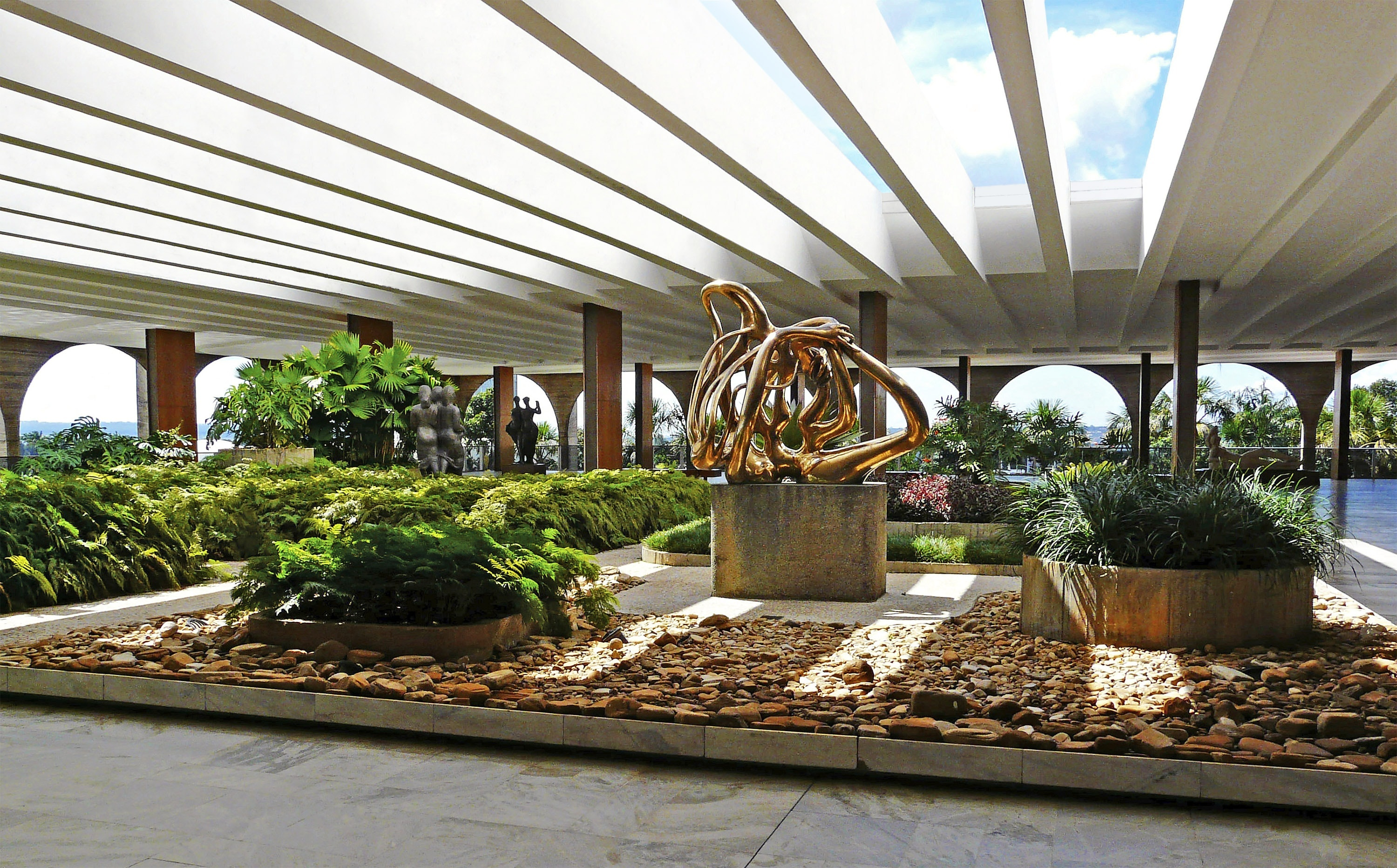 Catch a nice view of the Congressional building from the Palácio do Itamaraty Rooftop Garden.