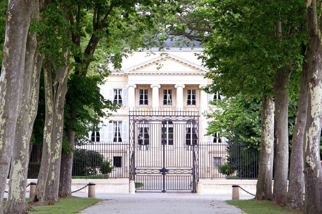The elegant entryway at Chateau Margaux