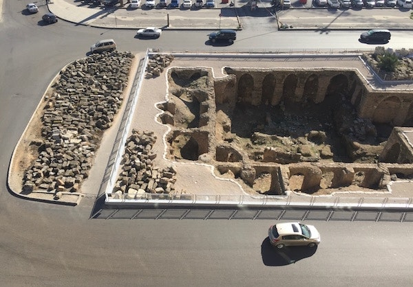 View of the ruins from Le Gray rooftop