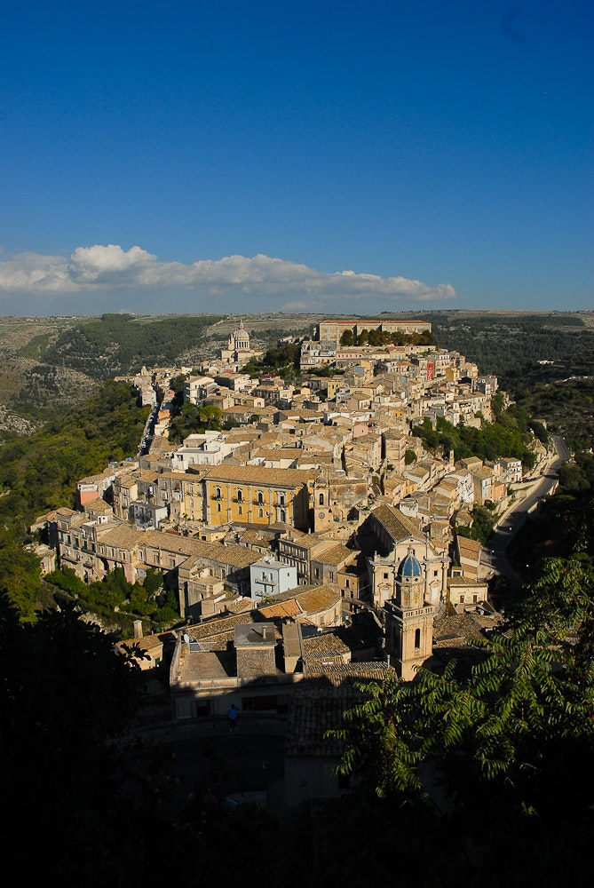 Scicli sits in a gorge and was rebuilt in a Sicilian Baroque style after a major earthquake destroyed much of the town in 1693.