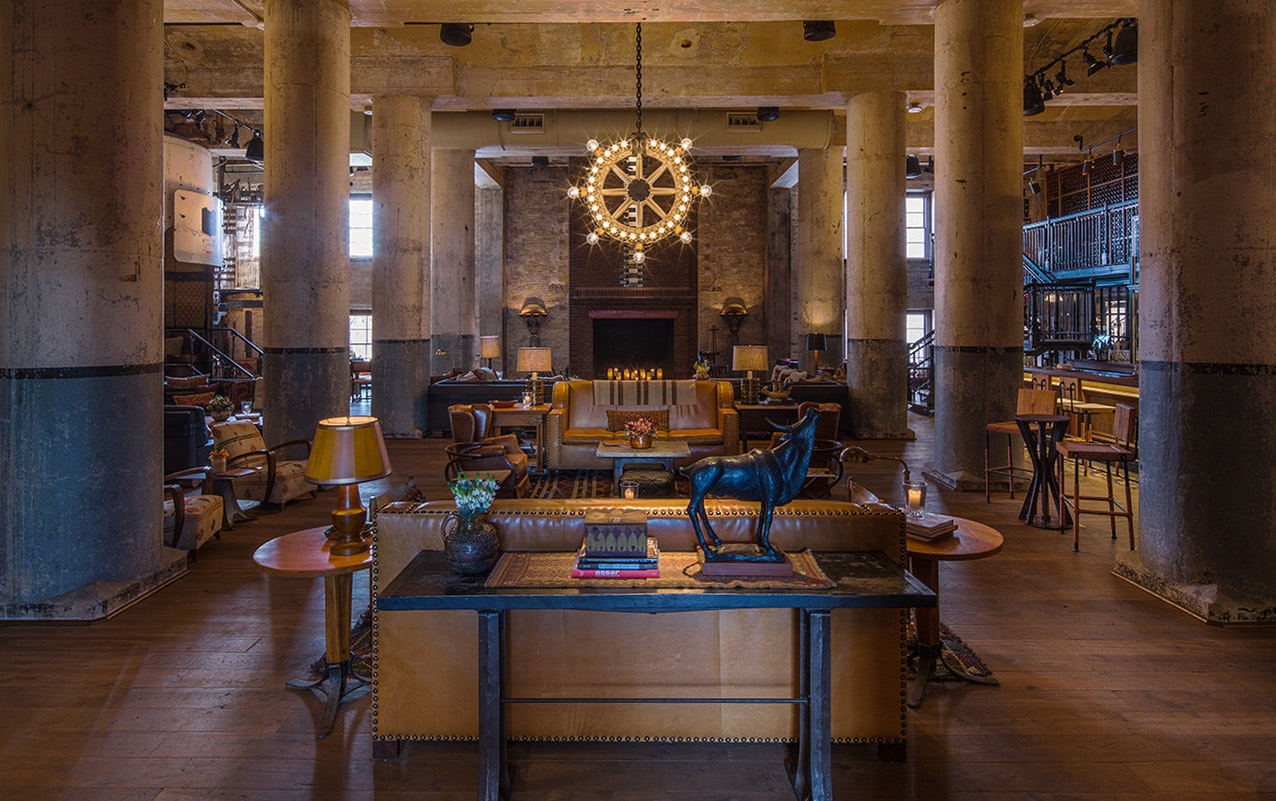 San Antonio's Hotel Emma was once a brewery before it was reimagined—and revamped—by design firm Roman and Williams.