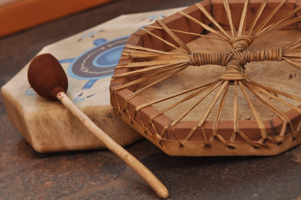 Drum-making classes with Ka'wat'si Tours offer insights into the cultural significance of the instrument