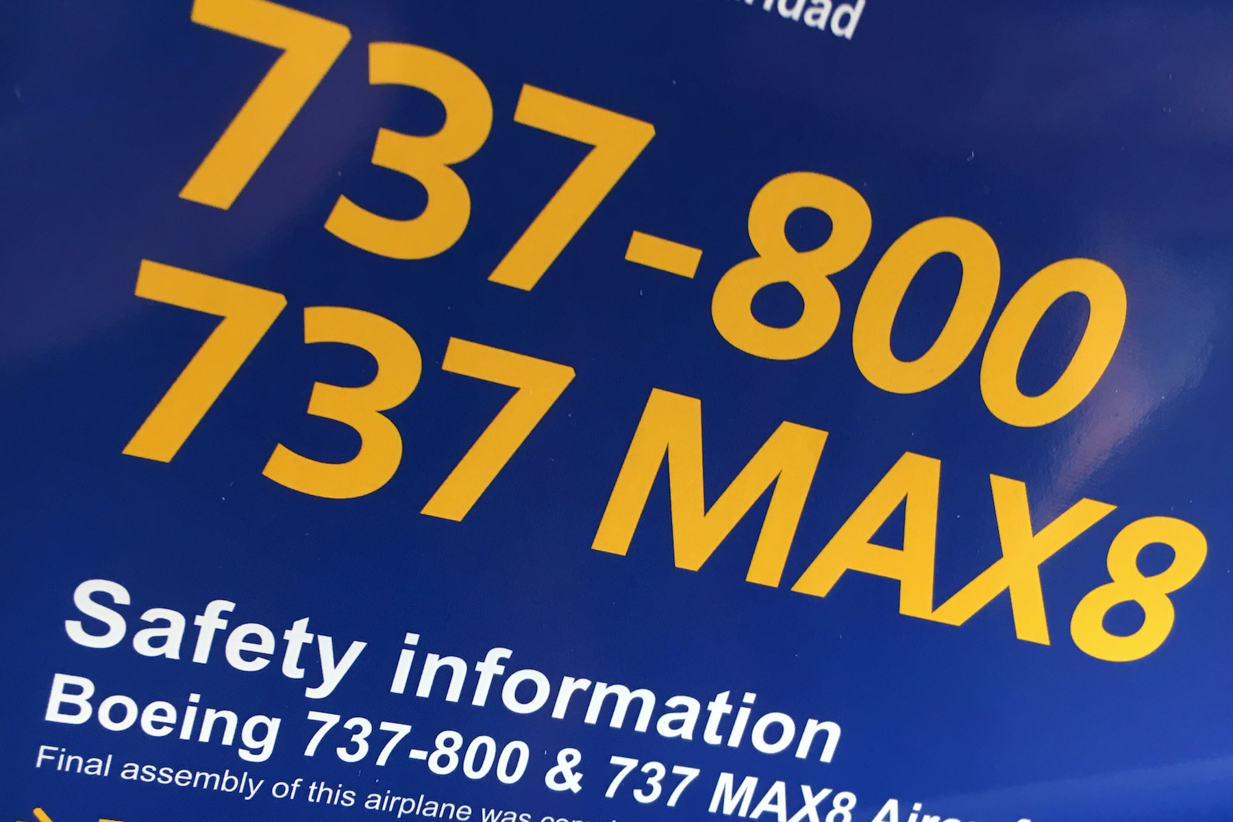 Southwest has informed its passengers that if they see this safety information card on their plane during the grounding, it doesn't mean they are flying on a Boeing 737 Max, which shares a card with the 737-800.