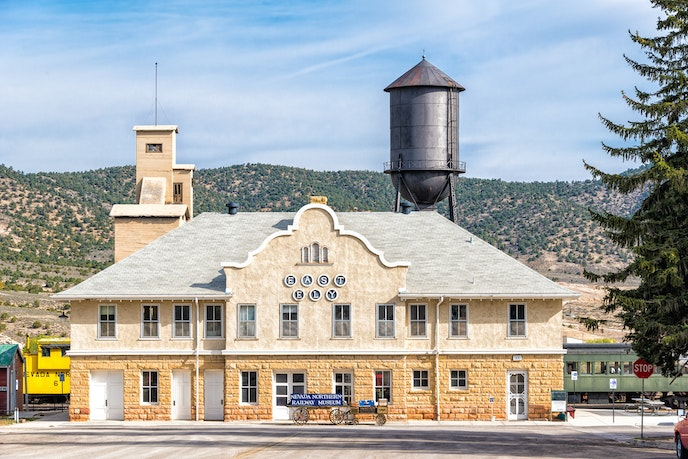Ely, Nevada, is home to the Nevada Northern Railway Museum. The railway itself is a National Historic Landmark.