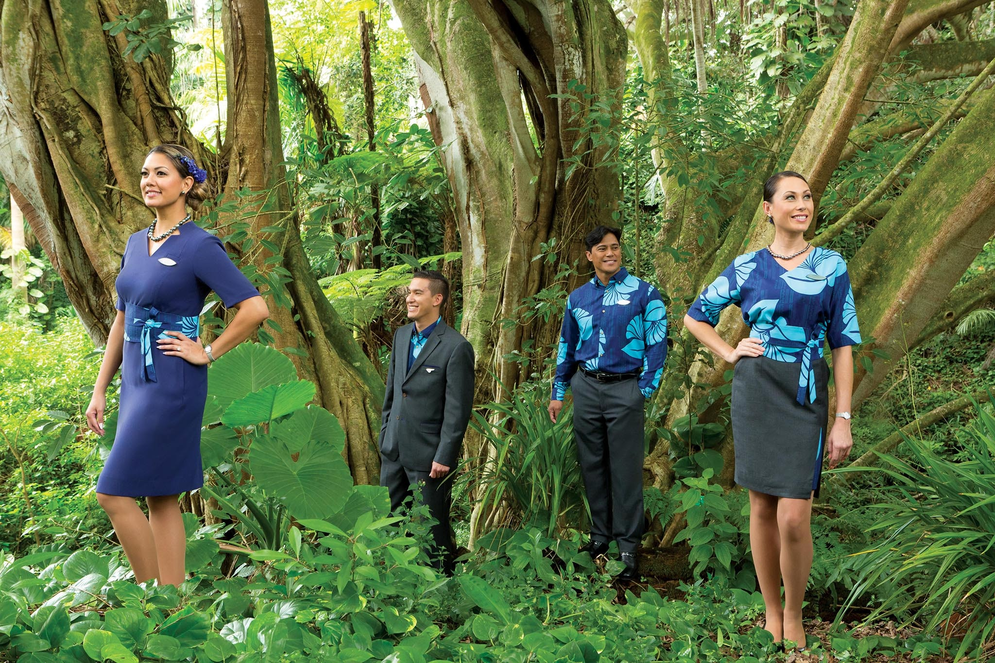 Hawaiian designer Sig Zane brought organic-inspired prints to Hawaiian Airlines uniforms in 2016.
