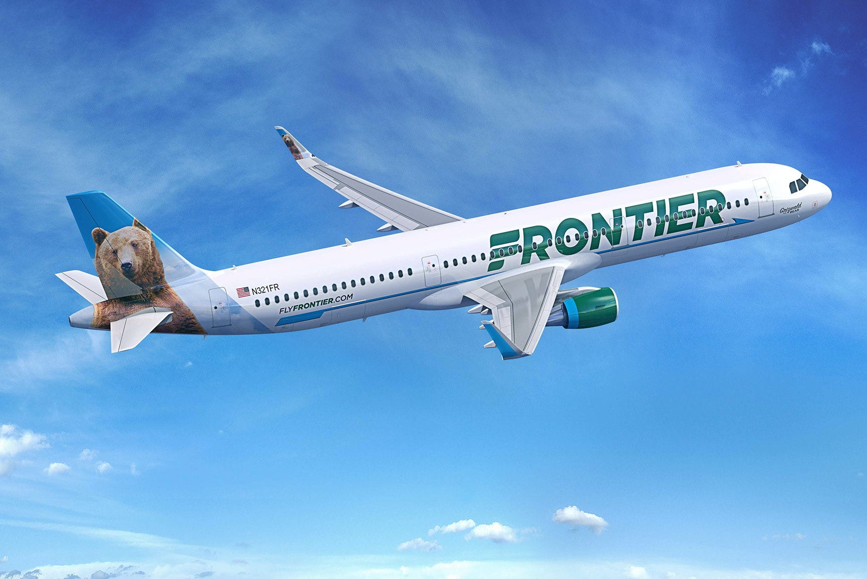 All of Frontier's aircraft have a different animal on their tails.