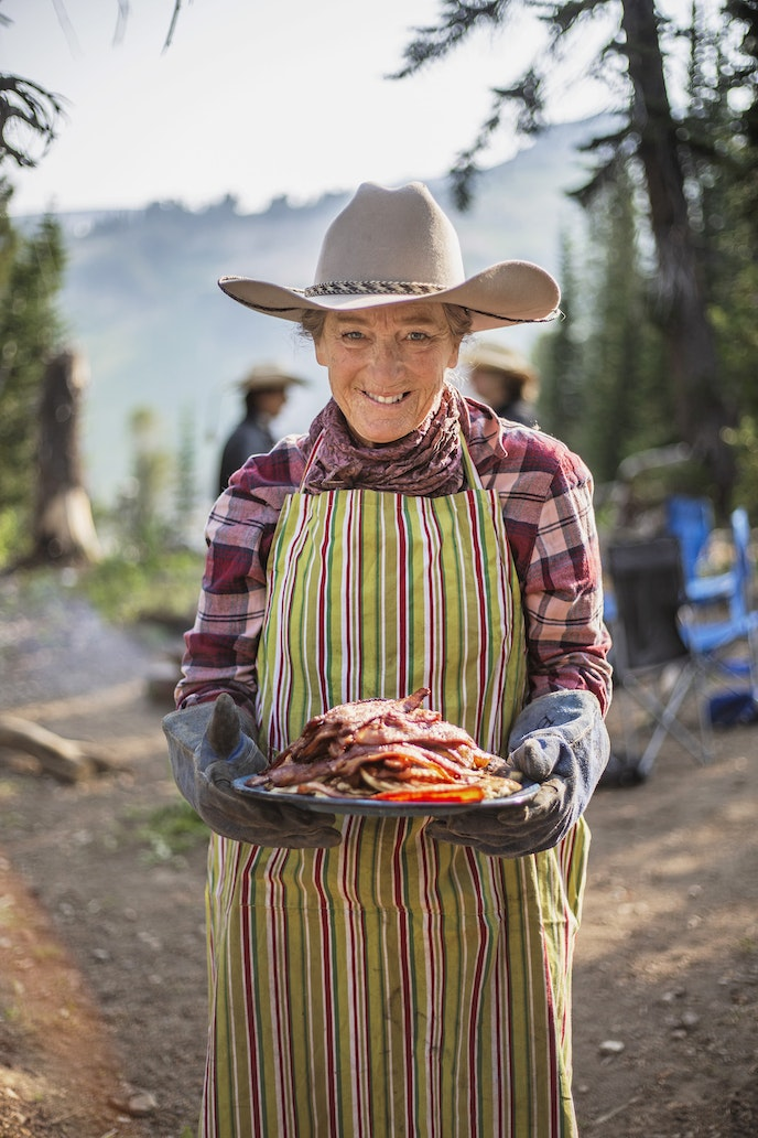 Meals of glorified cowboy cuisine, prepared by on-site cooks, are included on all Linn Outfitters trips.