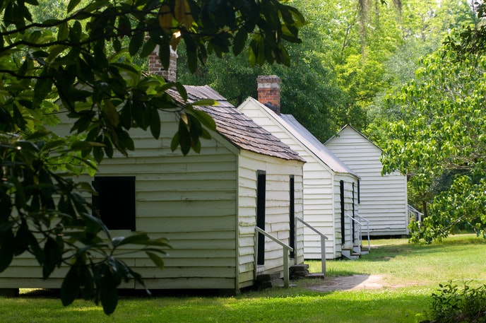 Take the rare opportunity to sleep in slave cabins in Charleston.