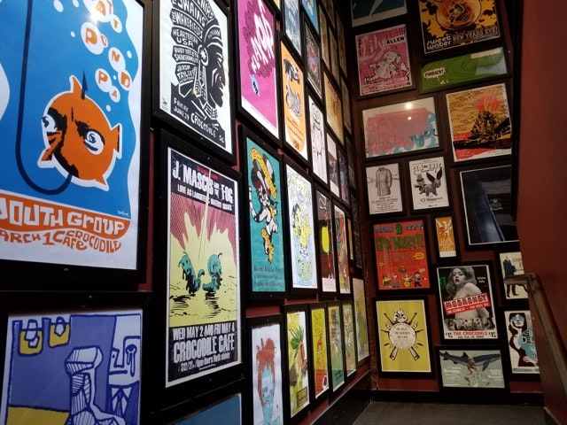 Band posters from groups that have played at The Crocodile