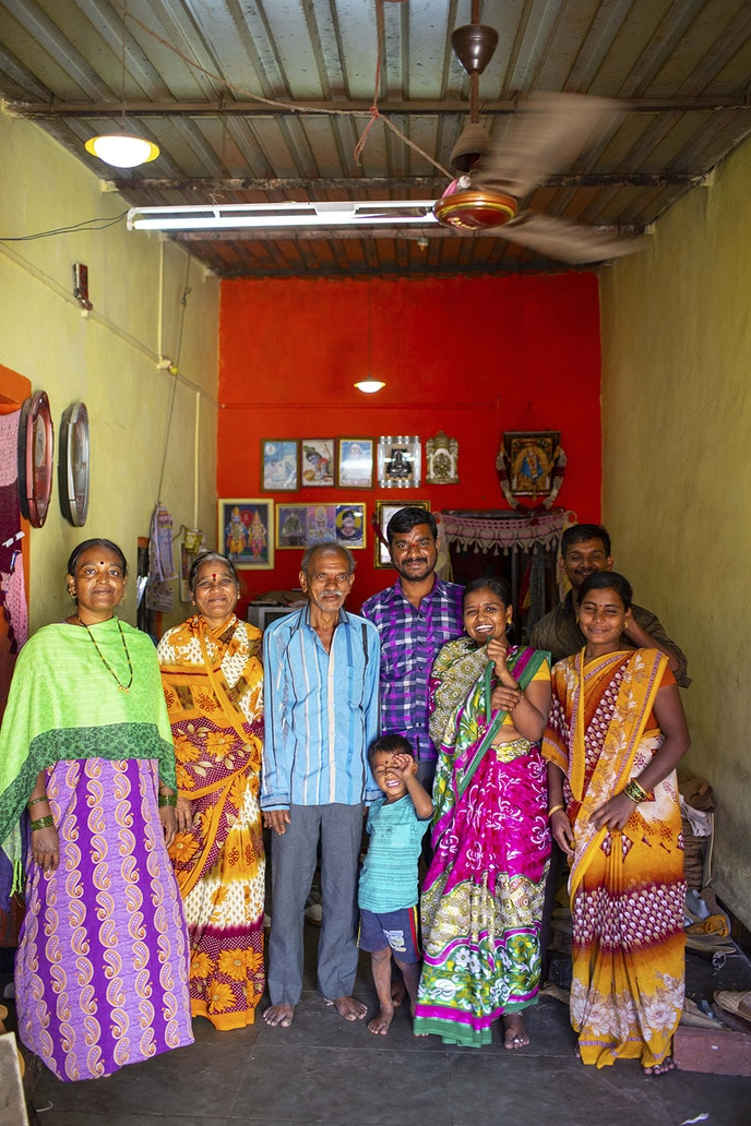 The Bhandare family is one of the largest families Mohinders works with.