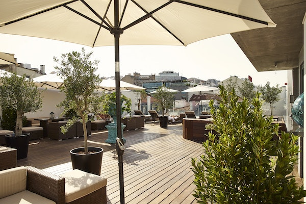 The rooftop at Porto Bay Liberdade in Lisbon, Portugal