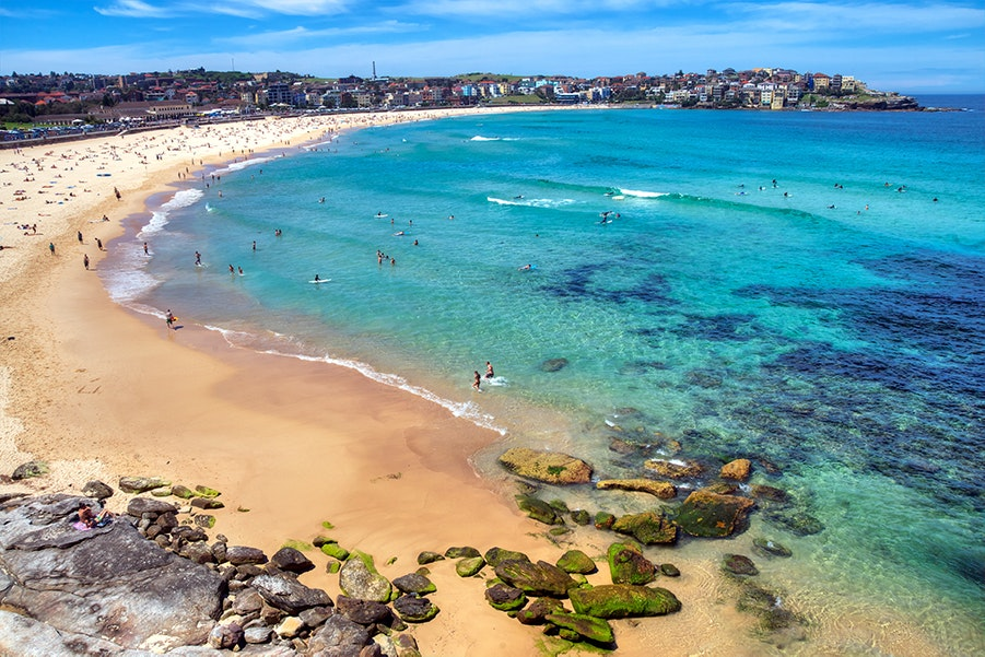 Travelers flock to Sydney in December to escape the cold of the Northern Hemisphere and lounge on sunny beaches.