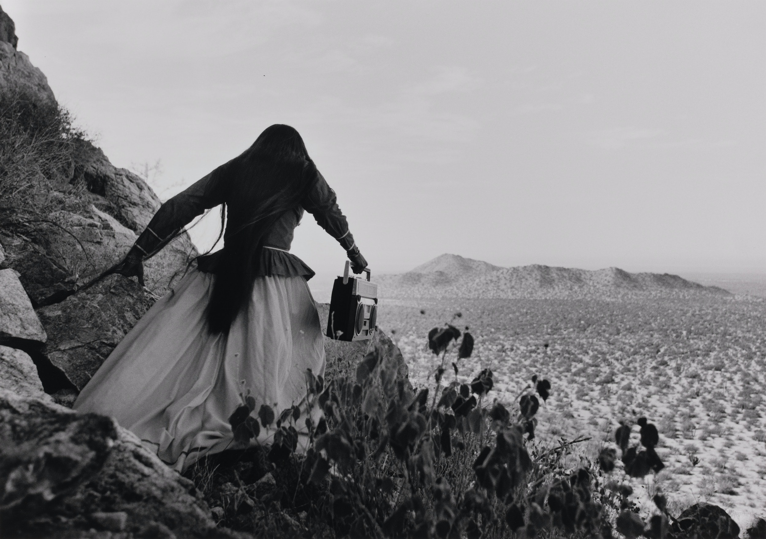 "Boston's Museum of Fine Arts is devoting an exhibition to Mexican photographer Graciela Iturbide, featuring works like  ""Mujer Ángel, Desierto de Sonora (Angel Woman, Sonora Desert)"" (Mexico, 1979)."