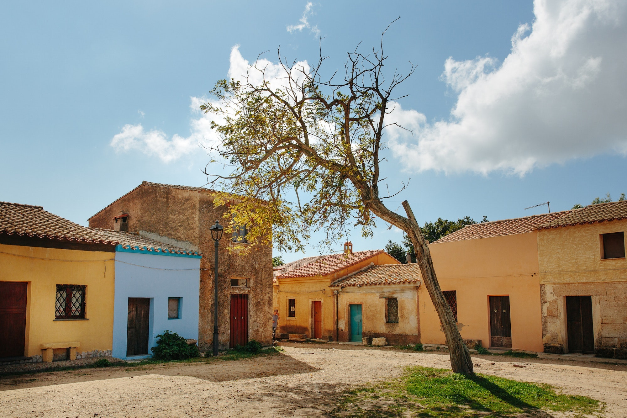 Colorful homes in Sardinia