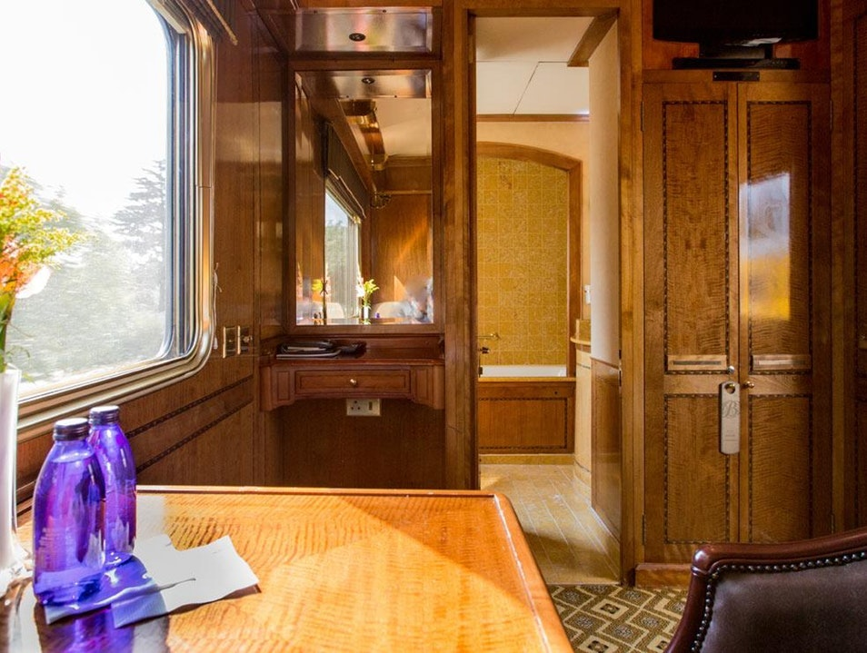 Swanky digs onboard the Blue Train