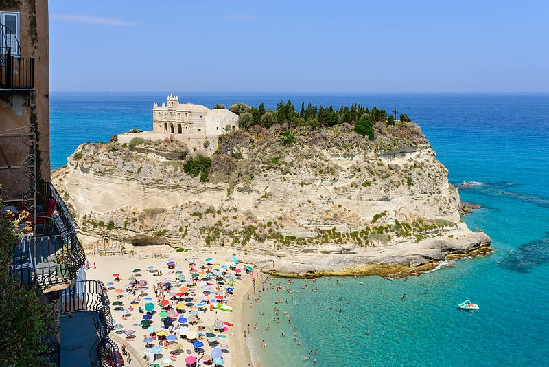 Tropea has the castle and the crystal waters of the Amalfi Coast, but the beachgoers you meet in this tiny town will likely be vacationing Italians.