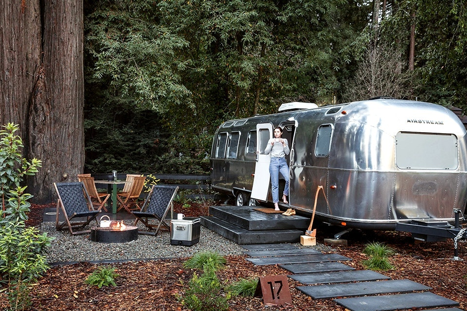 At AutoCamp Russian River, Airstreams even come with an ensuite bathroom and shower.