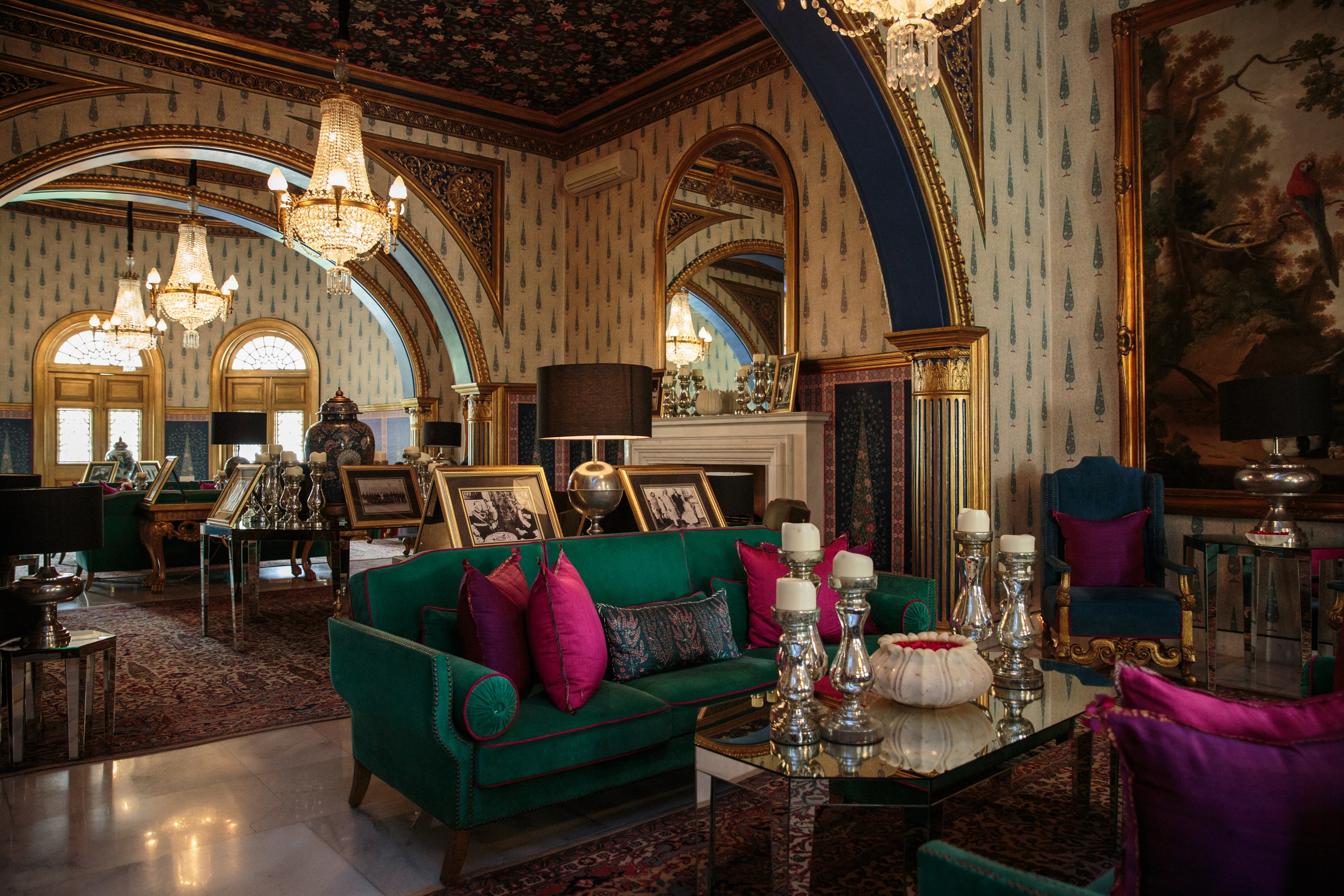 Live like a royal at the Sujan Rajmahal Palace, now a boutique hotel.