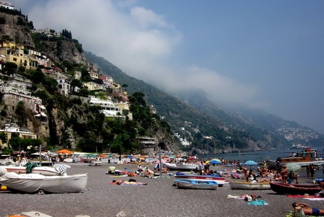 The Amalfi Coast on the southern edge of the Sorrentine Peninsula in Italy