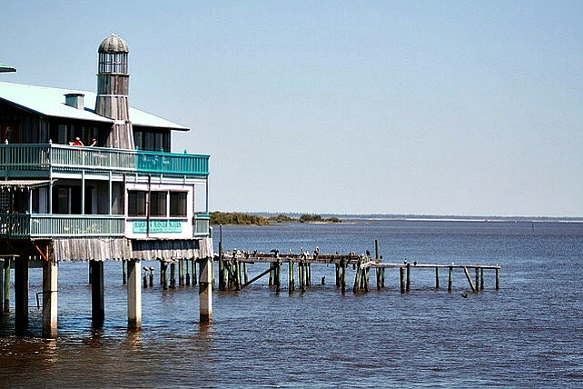 Cedar Key, Dock Street and the old dock